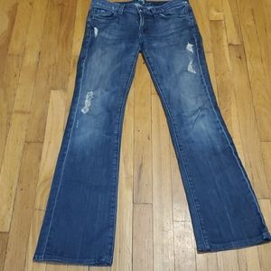 Women's destroyed 7 seven kind jeans size 28